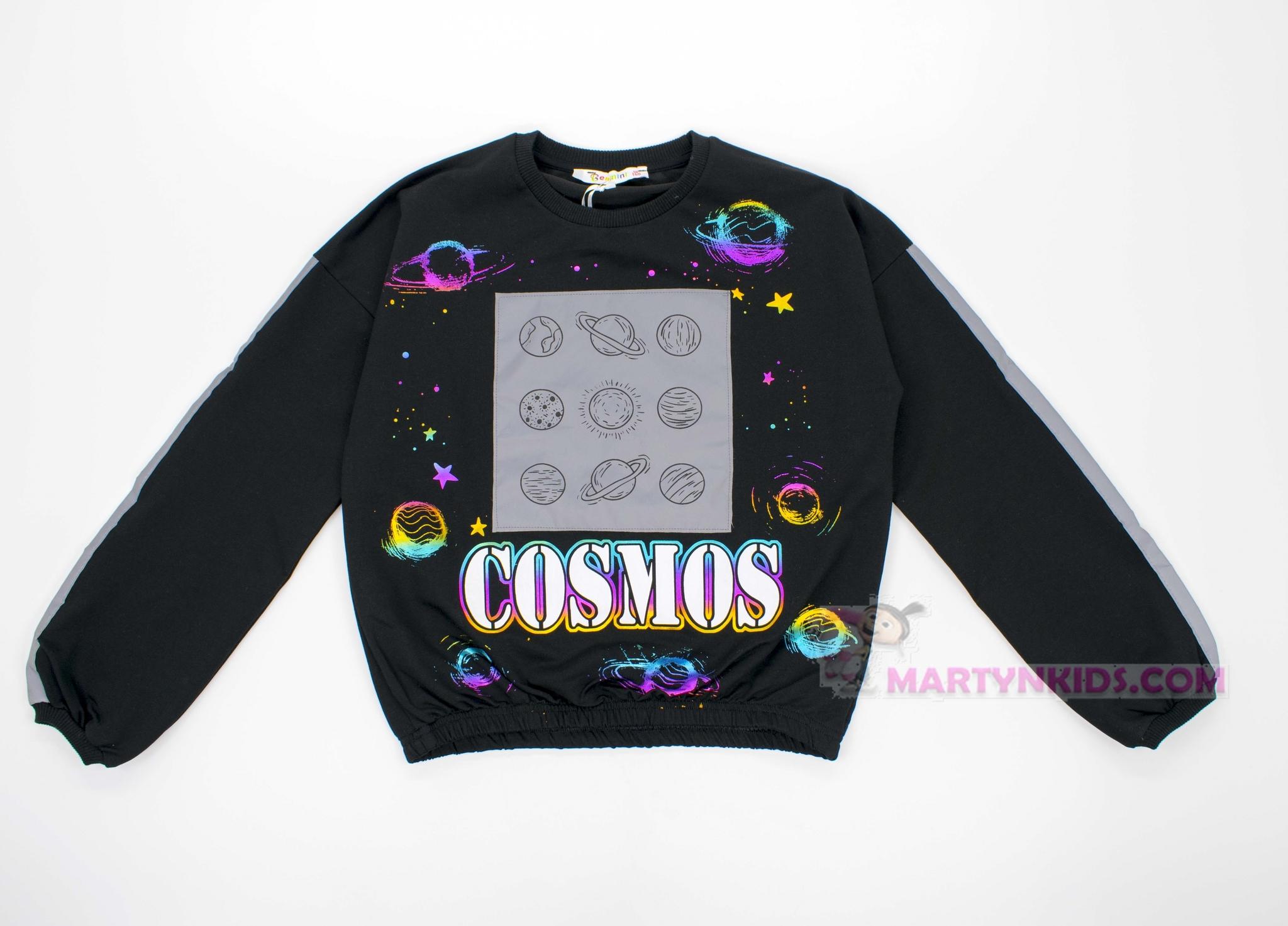 2843 свитшот COSMOS светится в темноте