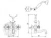 Смеситель для ванны-душа Migliore Arcadia ML.ARC-8302 схема