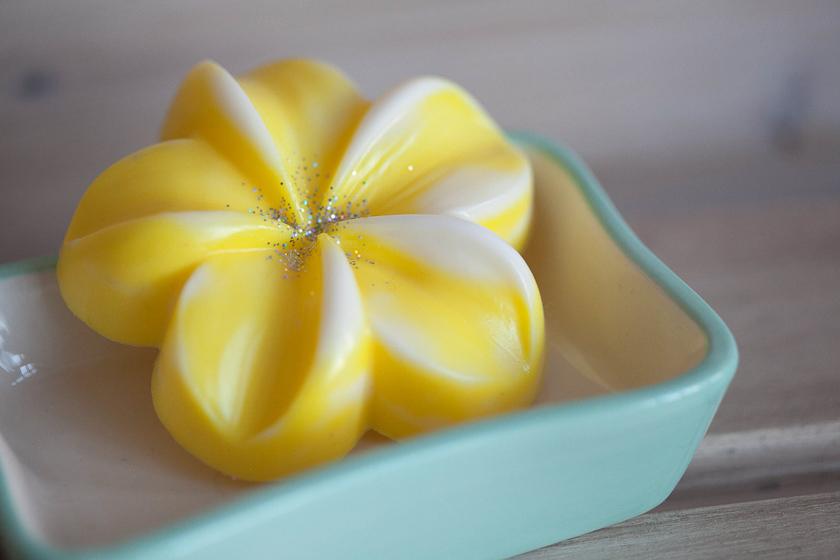 Мыло-цветок Плюмерия. Форма пластиковая