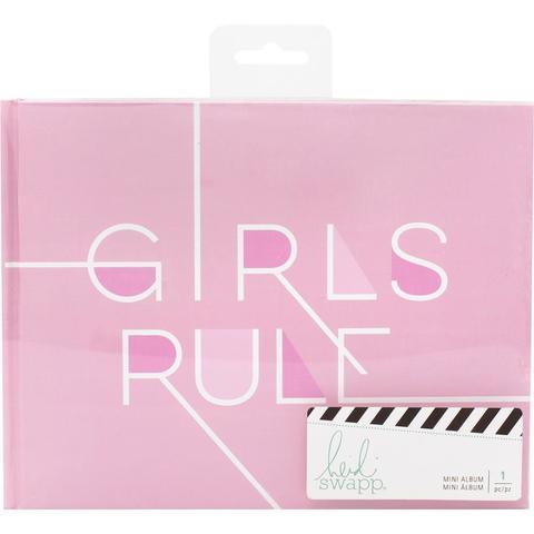 Альбом на пружине- Heidi Swapp Storyline 2 Mini Spiral Album- Girls Rule - 16,5х22 см