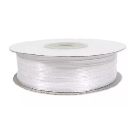 Лента атласная (размер: 3 мм х 50 м) Цвет: белая