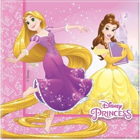 Салфетка Принцессы Герои 33см 20шт
