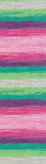 Пряжа Alize Cotton Gold Batik роз-зелен-фиолет 4147