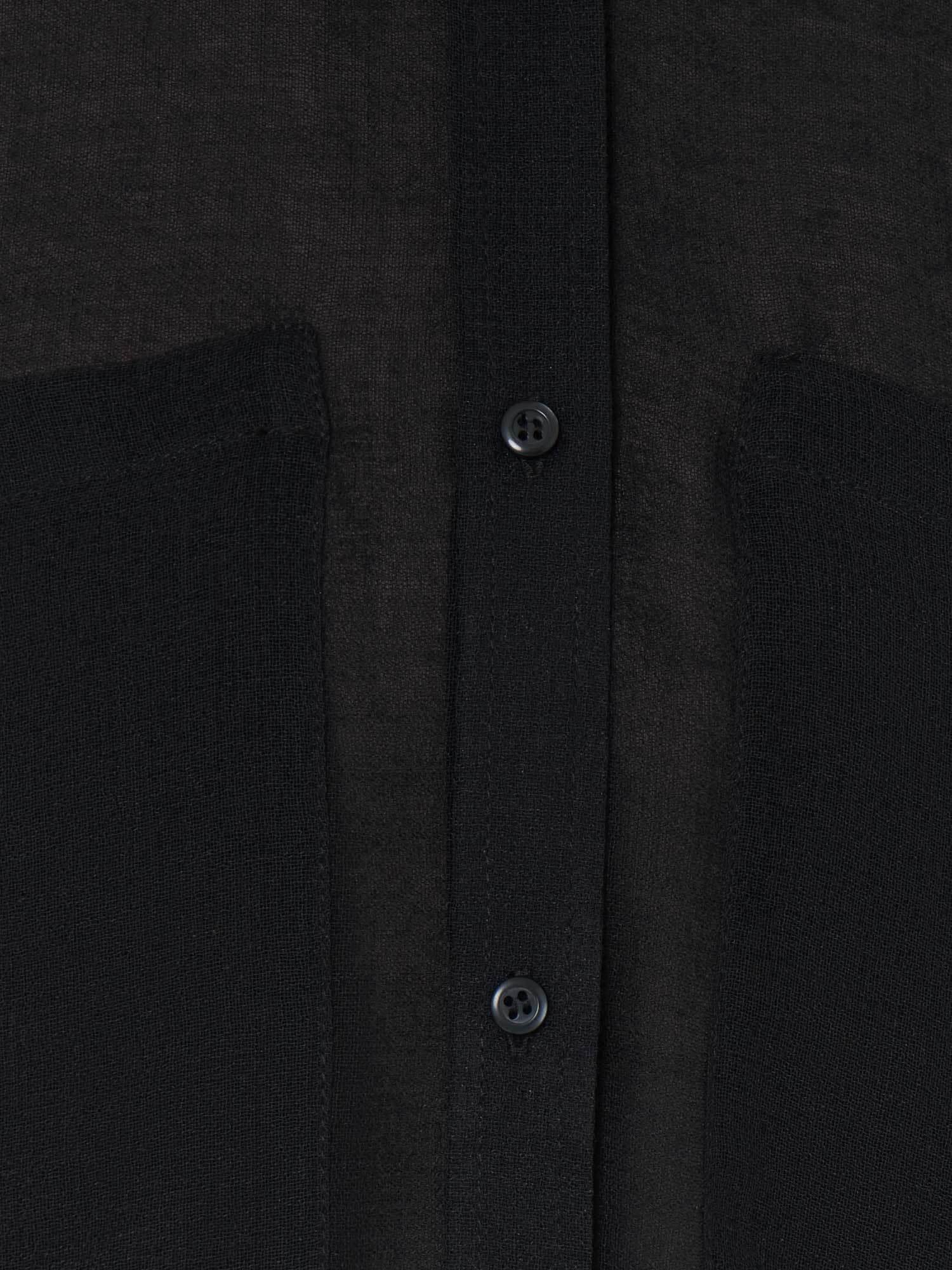 Рубашка Miriam без воротника, Черный