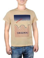 17615-5 футболка мужская, бежевая
