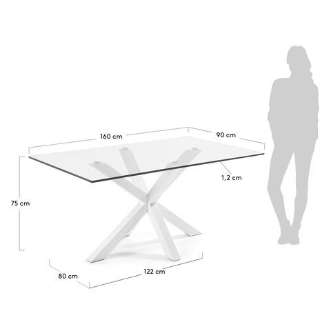 Стол Arya 160x90 стекло белый