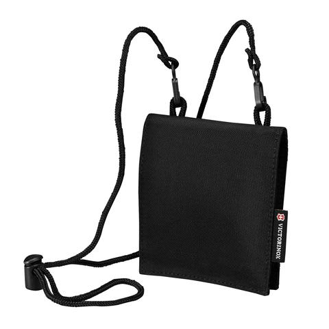 Кошелек на шею Victorinox Convertible Travel Wallet, черный, 13x1x12 см