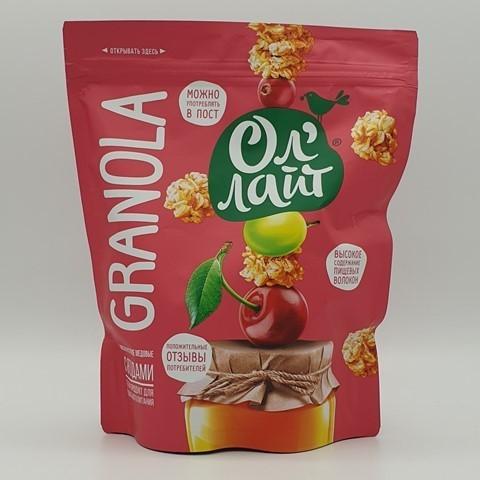 Запеченные мюсли (гранола) с ягодами Ол`лай