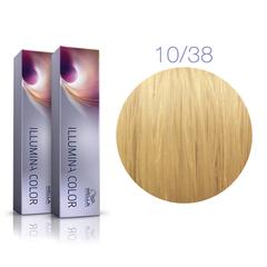 Wella Professional Illumina Color 10/38 (Яркий блонд золотисто-жемчужный) - Стойкая крем-краска для волос