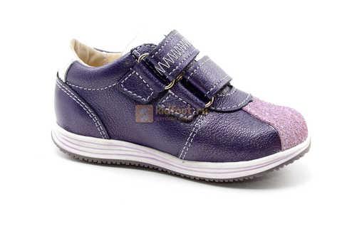 Ботинки для девочек Лель (LEL) из натуральной кожи на липучках цвет фиолетовый, 3-927A. Изображение 2 из 16.