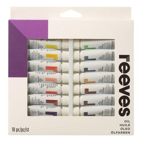 Набор масла Reeves 10 мл*18 цв, в картонной упаковке