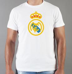 Футболка с принтом FC Real Madrid (ФК Реал Мадрид) белая 009