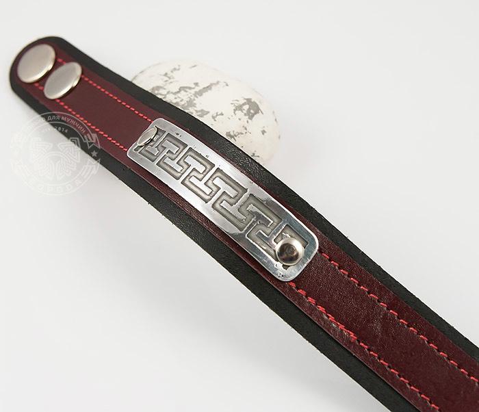 Boroda Design, Оригинальный мужской браслет бордового цвета, ручная работа