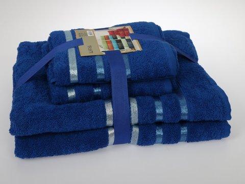 Комплект махровых полотенец КАРНА , парламент