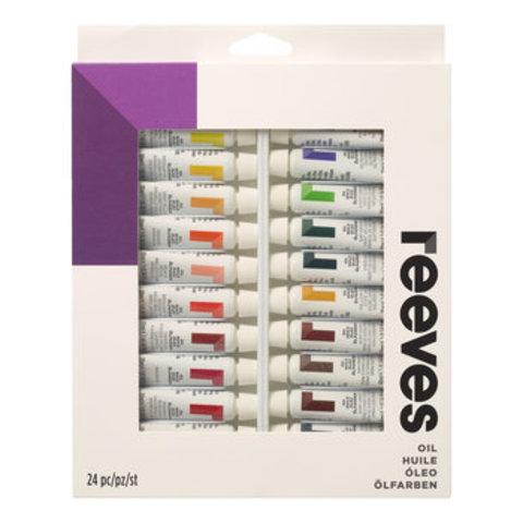 Набор масла Reeves 10 мл*24 цв, в картонной упаковке
