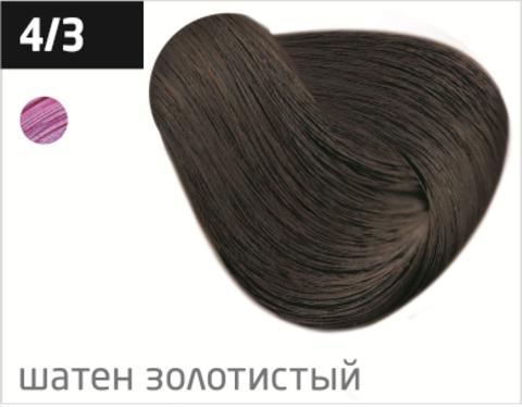 OLLIN color 4/3 шатен золотистый 100мл перманентная крем-краска для волос