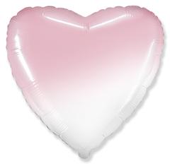 Шар сердце розовый градиент