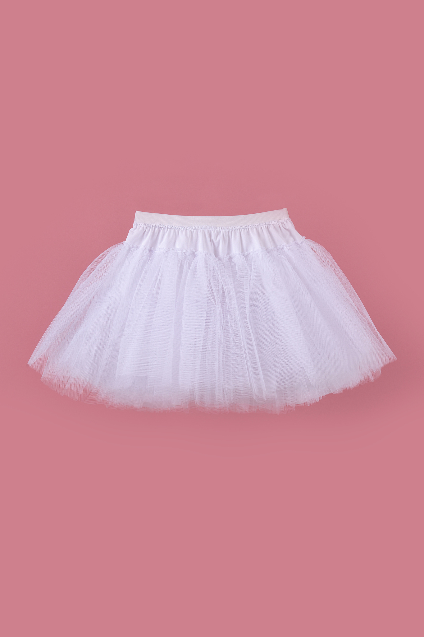 Юбка белая для девочки 37-8002-1