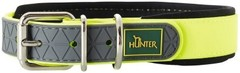 Ошейник для собак, Hunter Convenience Comfort 60 (47-55 см)/2,5 см, биотановый с мягкой горловиной, желтый неон