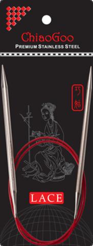 ChiaoGoo Red Lace Stainless steel 40 см спицы круговые