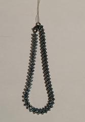 Терри с топазом  (серебряный браслет)