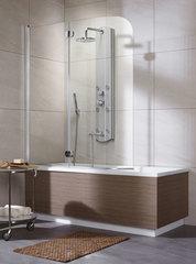 Шторка на ванну  Radaway Eos PND  130x152 левая, крепится слева, профиль хром, стекло прозрачное 205201-101L