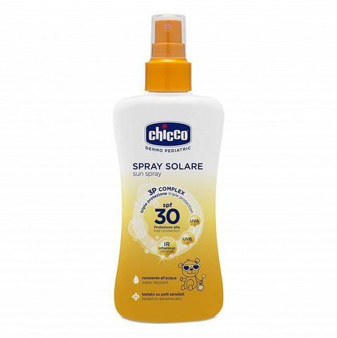 Chicco. Спрей солнцезащитный SPF30 150 мл