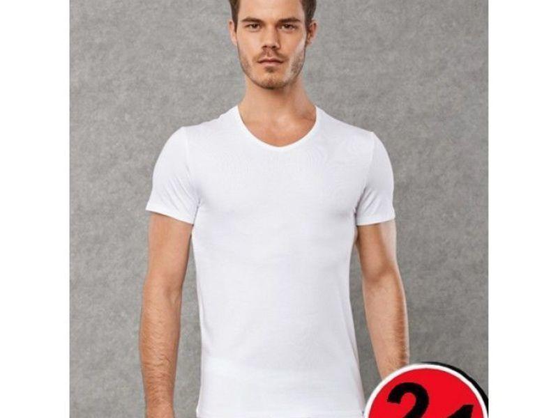 Мужская футболка белая комплект 2 шт. Doreanse 2800