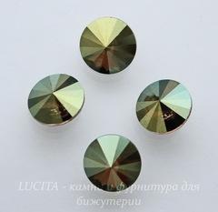 1122 Rivoli Ювелирные стразы Сваровски Crystal Iridescent Green (SS39) 8,16-8,41 мм