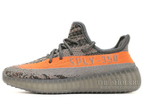 Кроссовки Женские Adidas Originals Yeezy Boost Sply 350 V2 Stealth Grey / Beluga / Solar Red