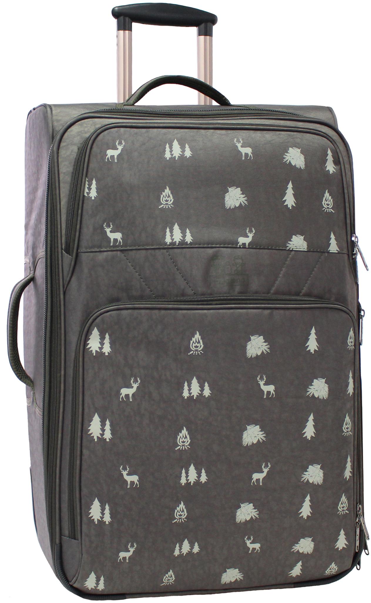 Дорожные чемоданы Чемодан Bagland Леон большой 70 л. 327 хакі/олені (003767027) IMG_5421.JPG