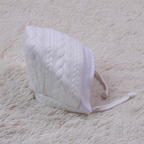 Теплая шапочка Коса на махре