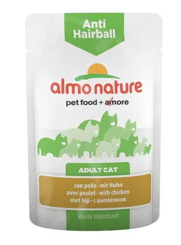 Паучи Almo Nature Functional - Anti-Hairball with Chicken