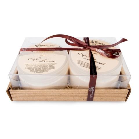 Набор подарочный №14 для волос СЛИВОЧНЫЙ (МУСС для мытья 280 мл, маска ПАРФЕ 200 мл)/ТМ Сhocolatte