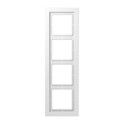 Рамка на 4 поста. Цвет Белый. JUNG LS - ДИЗАЙН. LSD984WW