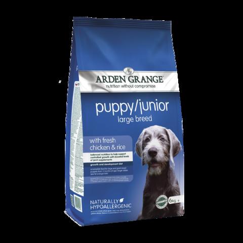 Arden Grange Puppy&Junior Large Breed Сухой корм для щенков и молодых собак крупных пород