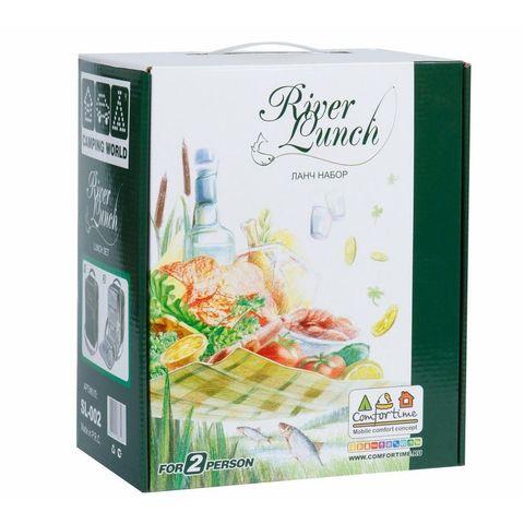 Термосумка с набором для пикника Camping World River Lunch 2 перс., оливковый