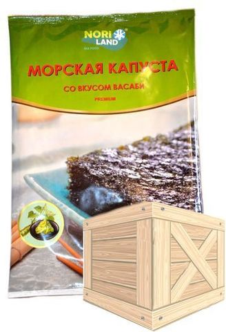 Сушеная морская капуста со вкусом васаби 18гр (50шт)