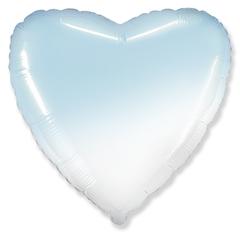 Шар сердце голубой градиент
