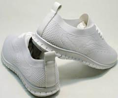 Стильные кроссовки женские тканевые Small Swan NB-821 All White.
