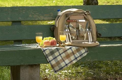 Термосумка с набором для пикника Camping World Caprise 2 перс., бежевый