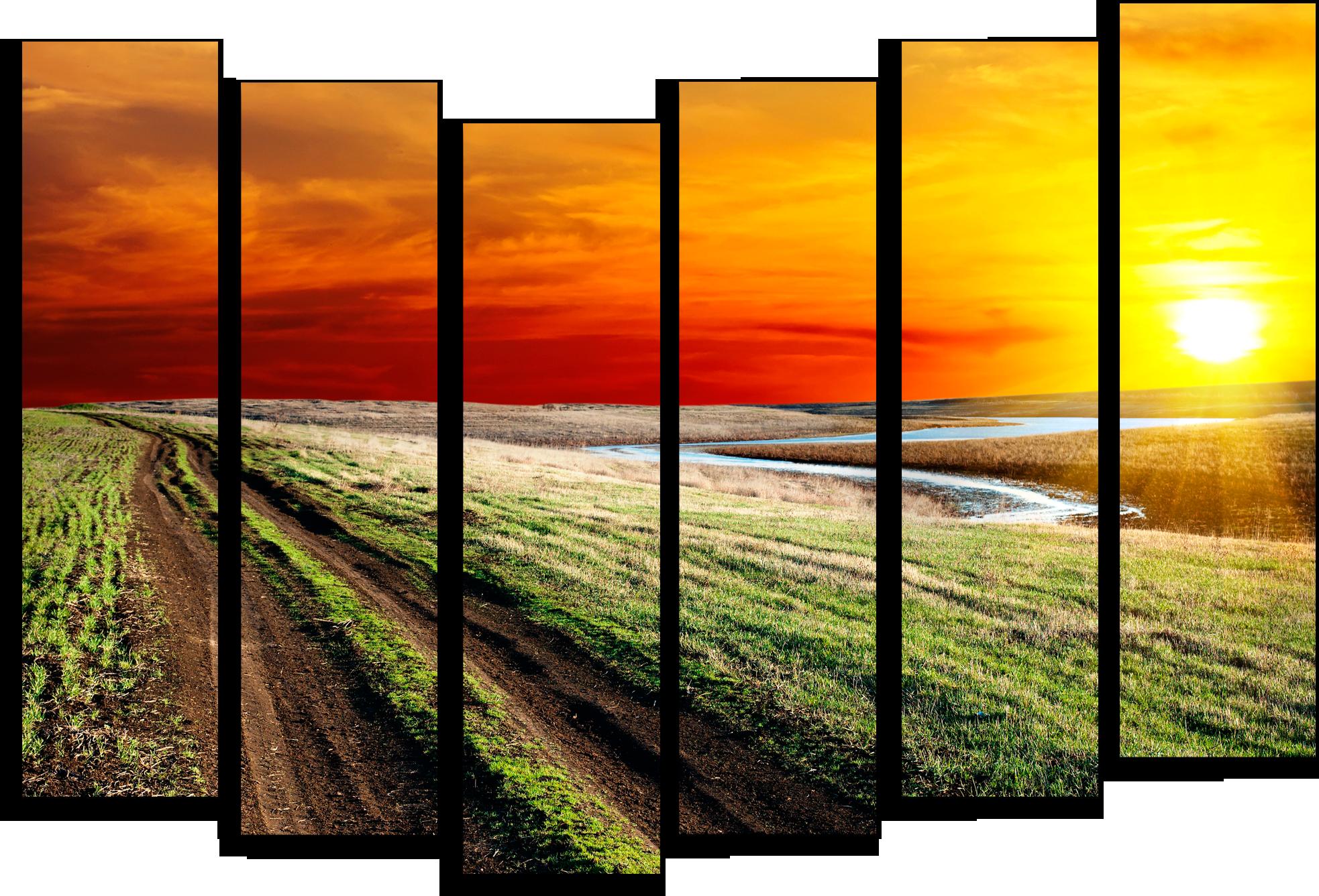 """Природа Модульная картина """"Иллюзия неба"""" М224.png"""