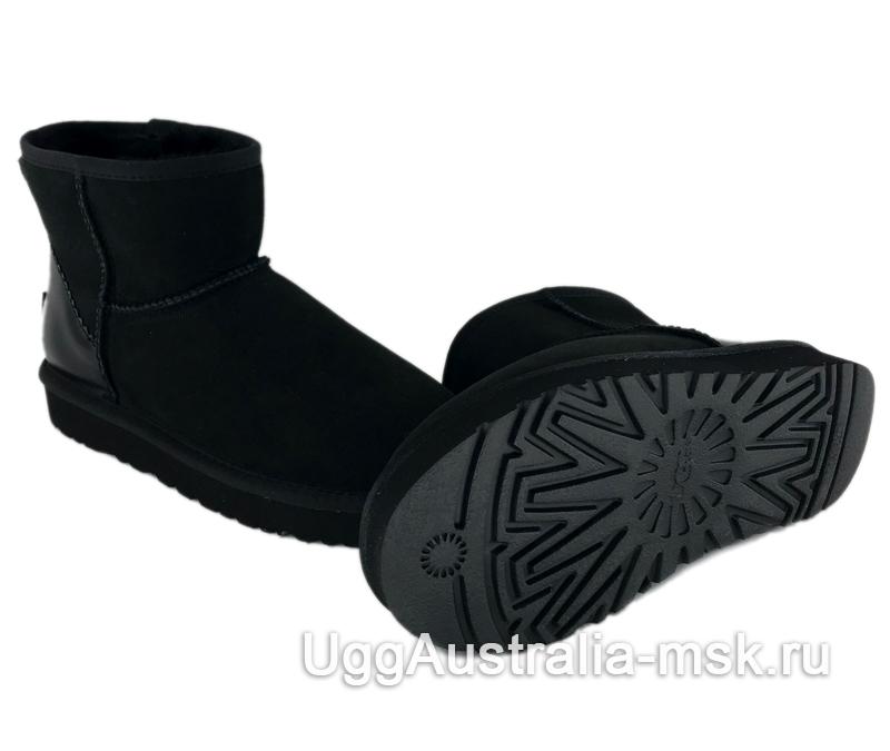 UGG Classic Mini II Metallic Driftwood Black