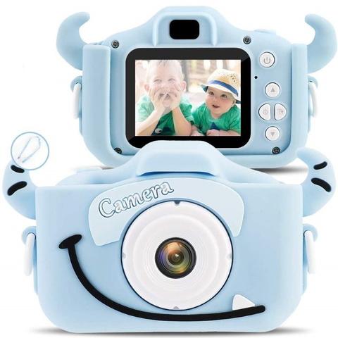 Детский фотоаппарат монстрик голубой