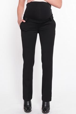 Утепленные брюки для беременных 11281 чёрный