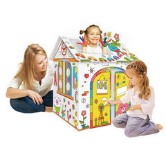 Дом-раскраска из картона Diy House Dooble