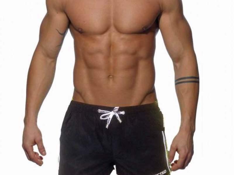 Мужские пляжные шорты черные с белыми вставками по бокам Addicted Racing Stripe Swim Shorts Black