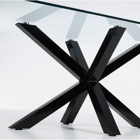 Стол Arya 160x90 стекло черный
