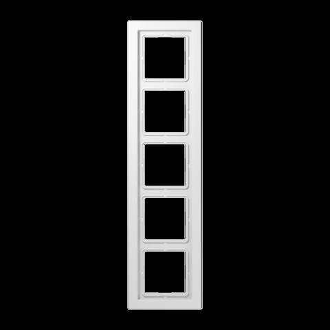 Рамка на 5 постов. Цвет Белый. JUNG LS - ДИЗАЙН. LSD985WW