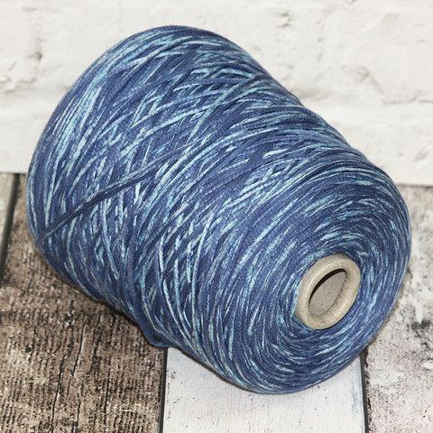 Хлопковый шнурок CASA DEL FILATO / VULCANO 200 сине-голубой